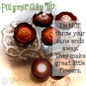 Polymer Clay Tip - Keep Your Cane Ends | Fall Polymer Clay Masor Jar Table Centerpiece Tutorial by KatersAcres