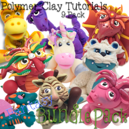 FANTASY Polymer Clay Tutorials PDF Bundle Pack of 9 Fantasy Themed Figurine Tutorials from KatersAcres