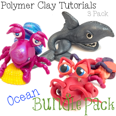OCEAN Polymer Clay Tutorials PDF Bundle Pack of 3 Under Water Figurine Tutorials from KatersAcres