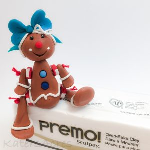 Polymer Clay Gingerbread Girl Doll Tutorial by KatersAcres
