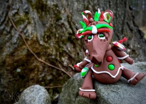 """Polymer Clay Dragon """"GINGY"""" by Katie Oskin of KatersAcres, Ready for Adoption on Etsy"""