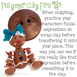 PIN NOW - READ LATER | Polymer Clay Pro-Tip: When sculpting, practice your face on scrap clay before transferring it to your figurine. | Get MORE tips, tricks, hints, & tutorials by CLICKING on the photo.