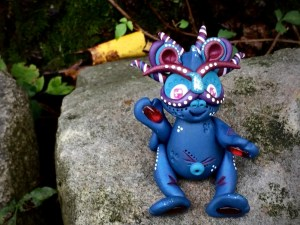 """Polymer Clay Dragon """"Jubilee"""" by Katie Oskin of KatersAcres, Ready for Adoption on Etsy"""