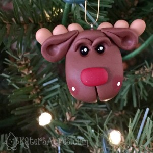 5 Days of FREE Polymer Clay Ornament Tutorials - Rudolf the Reindeer by KatersAcres | CLICK to see how to make your own