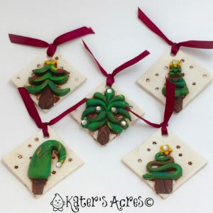Polymer Clay Ornaments: One Idea, Five Ways | CLICK to learn how to make your own