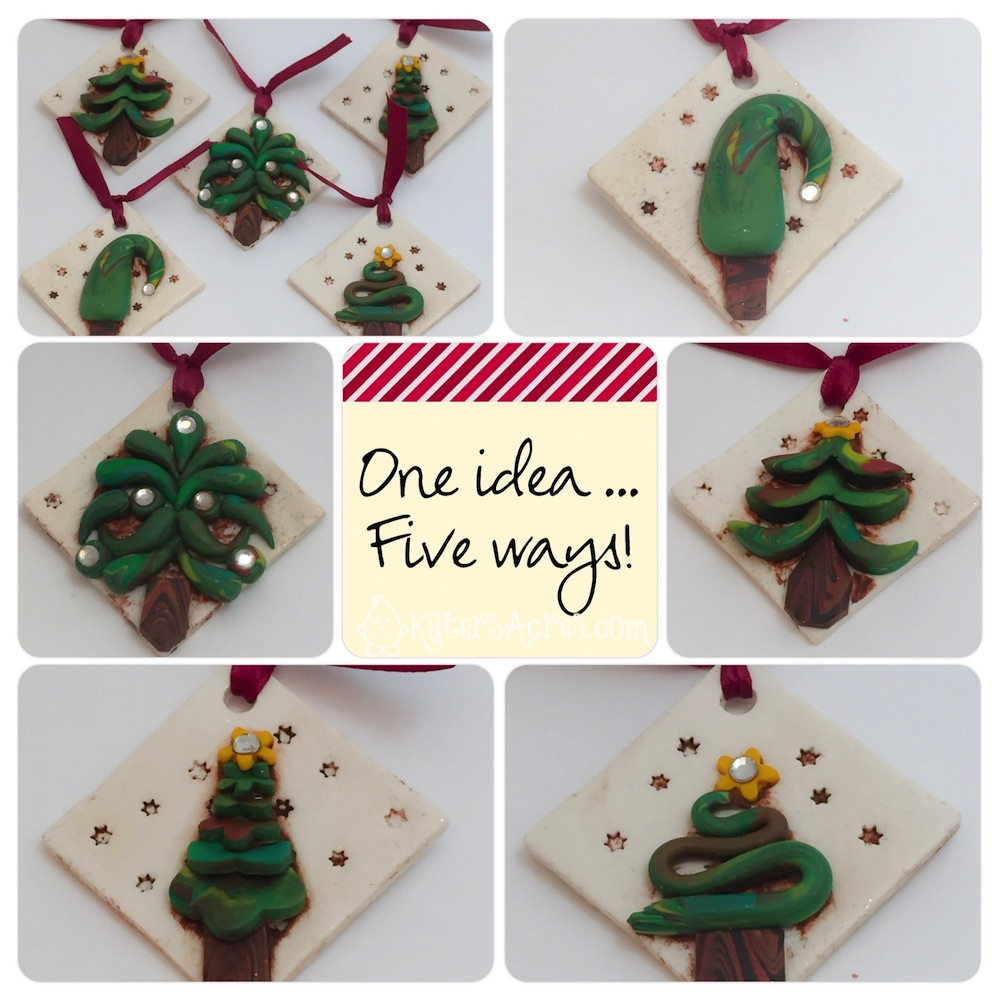 Polymer Clay Christmas Ornament: Polymer Clay Ornaments: 1 Idea