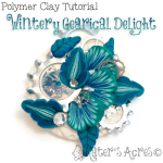 Polymer Clay Winter Steampunk Pendant Tutorial by KatersAcres