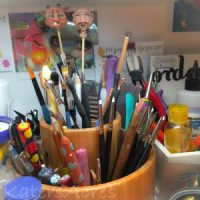 KatersAcres Polymer Clay Studio | A Snapshot of Tools of the Trade (and a few faces too)