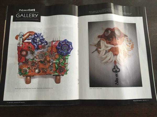 Polymer Clay & Mixed Media Pieces by Katie Oskin of KatersAcres, Published in March/April 2016 Polymer Cafe Magazine
