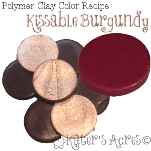 Polymer Clay Color Recipe Kissable Burgundy by KatersAcres