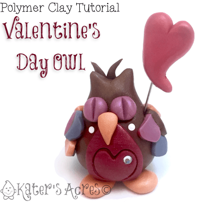 Polymer Clay Valentine's Day Owl Tutorial by KatersAcres