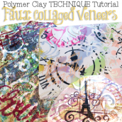 Polymer Clay Faux Collaged Veneers Tutorial by KatersAcres