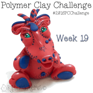 "2016 Polymer Clay Challenge, Week 19 Dragon, ""Rider"" by KatersAcres"