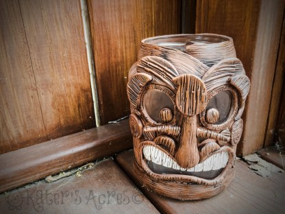 Polymer Clay Tiki Face Porch Light Tutorial by KatersAcres | CLICK to get a tutorial on how to make your own