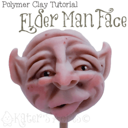 Polymer Clay Old Man Face Tutorial by KatersAcres