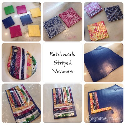 Patchwork Stripes Tutorial for Polymer Clay by KatersAcres