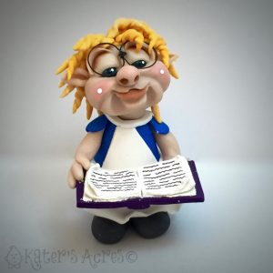 Polymer Clay Alice Schrume from The Schrumes© Collection by Katie Oskin of KatersAcres | #2016PCChallenge, Week 34