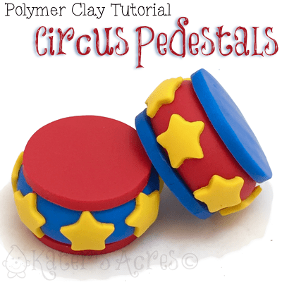 Polymer Clay Pedestals by KatersAcres | CLICK for a FREE tutorial or Pin Now, Read Later