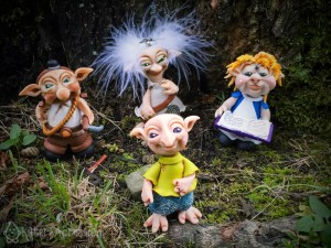 The Schrumes - Felix, Miner, Winkle, & Alice by Katie Oskin