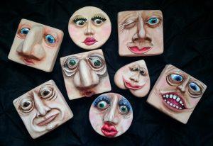 Morton's Friends Face Boxes by Bettir Griffin