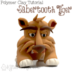 Polymer Clay Sabertooth Tiger Tutorial by KatersAcres