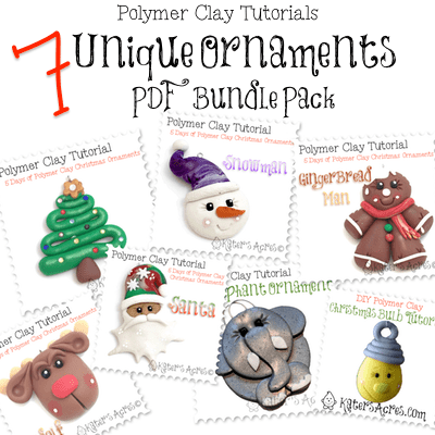 Polymer Clay ORNAMENT Tutorials for Beginners in Polymer Clay | Holiday Special $4.99!