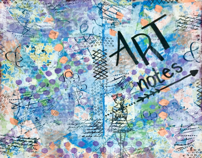 Art Notes Journal Cover by Katie Oskin