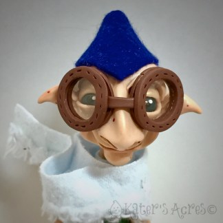 Polymer Clay 'Schrume, Flight Troll Doll BYRD by KatersAcres
