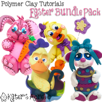 Polymer Clay Easter Tutorials Bundle Pack | CLICK for Limited Time Special Offer
