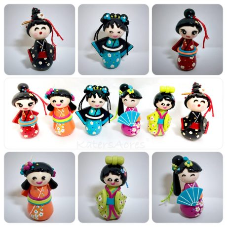 Polymer Clay KOKESHI DOLLS Tutorial by KatersAcres   CLICK to get the tutorial!