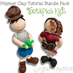 Polymer Clay Toothpick Kids BUNDLE Tutorial Pack (Includes Jane & John) by KatersAcres