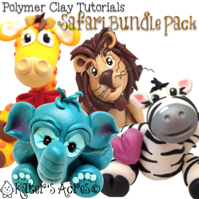 Polymer Clay Tutorials Safari Bundle Pack