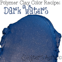 Polymer Clay Color Recipe for Dark Waters by Katie Oskin