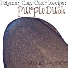 Polymer Clay Color Recipe for Purple Dusk by KatersAcres