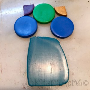Polymer Clay MERMAID TEAL Color Recipe SWATCHES by Katie Oskin