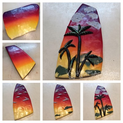 Sunset Pendant Tutorial STEPS by Katie Oskin of KatersAcres