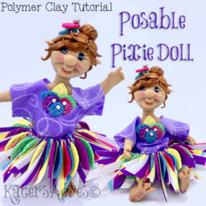 Polymer Clay Posable PIXIE Doll Tutorial by KatersAcres
