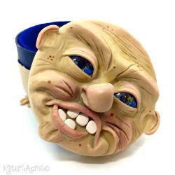 Old Mister by Katie Oskin | Polymer Clay over Papier-Mache