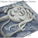 Polymer Clay FAUX MARBLE BUSTS Tutorial by KatersAcres