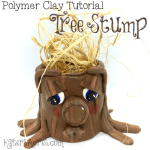 Polymer Clay TREE STUMP Tutorial by KatersAcres