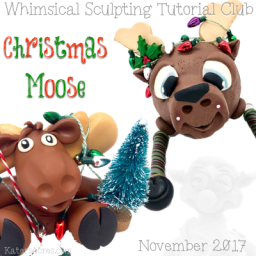 Moose Figurine Bundle Pack Tutorials for Polymer Clay by KatersAcres