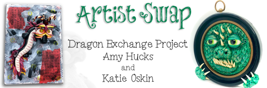 Dragon Exchange Artists Swap with Amy Hucks and Katie Oskin