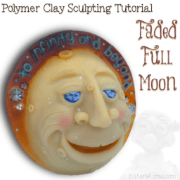 Polymer Clay Faded Full Moon Tutorial by KatersAcres