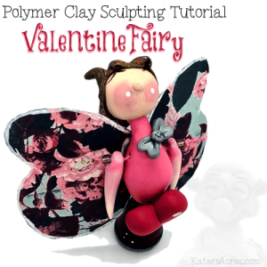 Polymer Clay Valentine Fairy Tutorial by KatersAcres