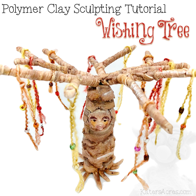 Polymer Clay Wishing Tree Tutorial by KatersAcres