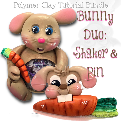 Polymer Clay Bunny Tutorial Duo by KatersAcres