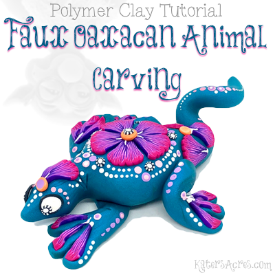 Faux Oaxacan Animal Carving Polymer Clay Tutorial by KatersAcres