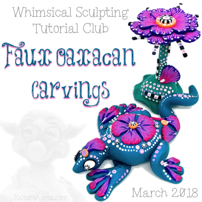 Faux Oaxacan Carvings Polymer Clay Tutorial by KatersAcres