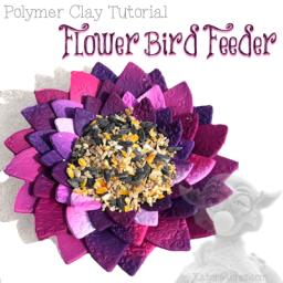 Flower Bird Feeder Polymer Clay Tutorial by KatersAcres