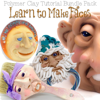 Learn to Make Faces in Polymer Clay Bundle Pack